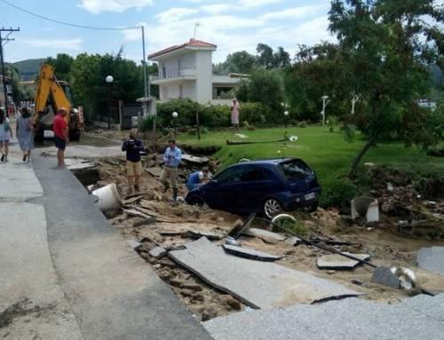 Στα 4,6 εκ. ευρώ οι ζημιές από τα ακραία καιρικά φαινόμενα στην Χαλκιδική